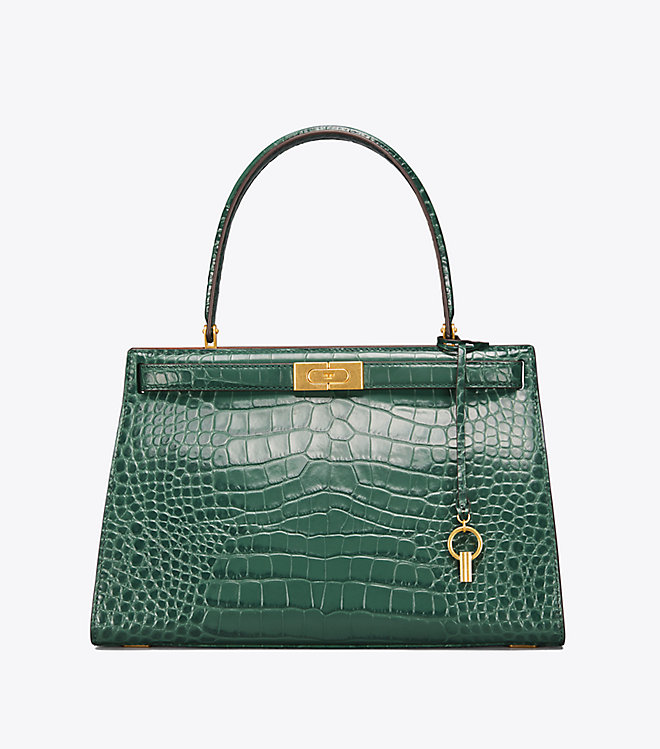 71c77b0e10 BOX BAG IN LILY-PRINT DAUPHINE CALFSKIN WITH EMBROIDERY