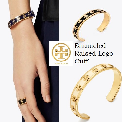 Enameled Raised Logo Cuff