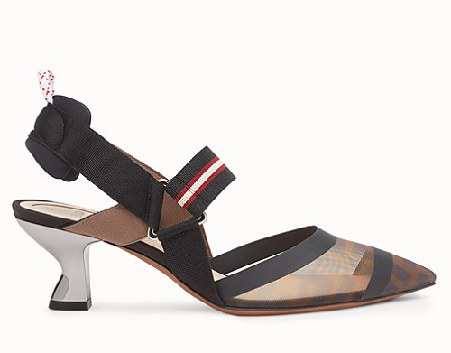 2f72c70ec9 D-DIOR MULE IN TECHNICAL CANVAS AND CALFSKIN LEATHER