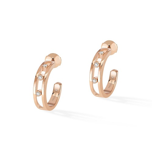 Move Hoop EARRINGS - WHITE GOLD