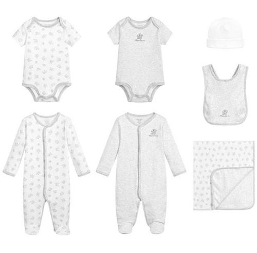 Boys Grey Babysuit Gift Set
