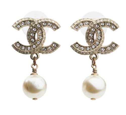 CC Dangle Pearl Earings