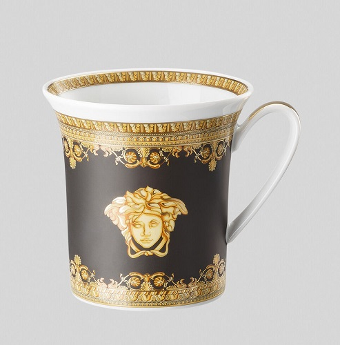 BLACK I ♡ BAROQUE MUG