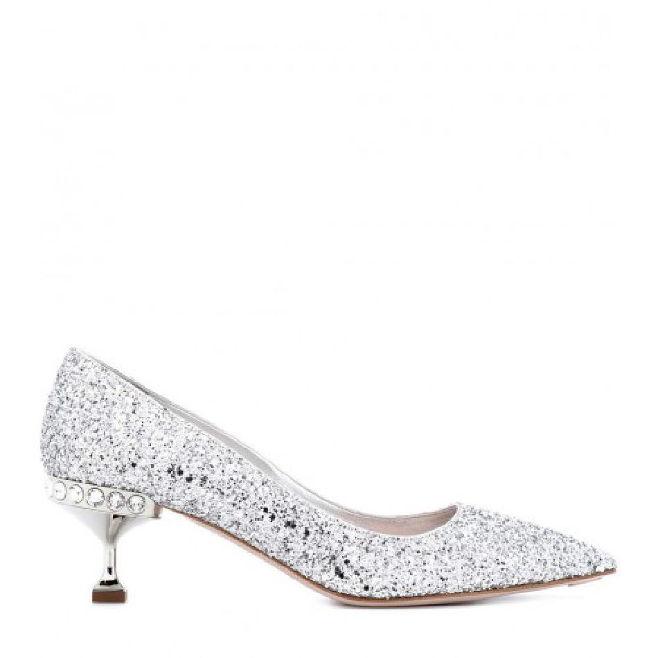 0a15e2c5bf47 Glitter Kitten Heel Pumps